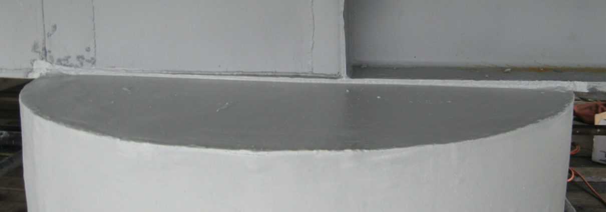 MADCON SCR Type 1 Repair FRP with Epoxy Grout with Carbon Fiber Finish Coat of Paint