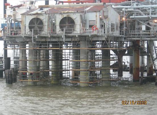 Scaffolding in place & SCR Type 1 encapsulation in progress