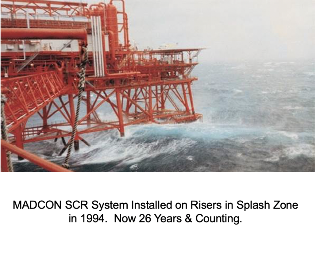 MADCON SCR System Installed on Risers in Splash Zone in 1994