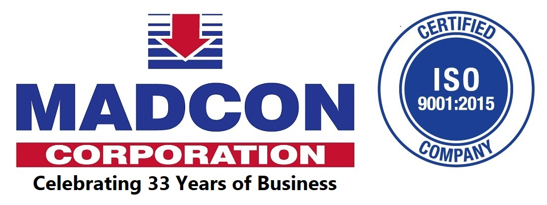 Madcon Corp Logo- ISO and 33 Years